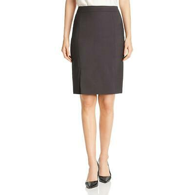 BOSS Hugo Boss Womens Venisa Virgin Wool Split Hem Pencil Skirt BHFO 8011
