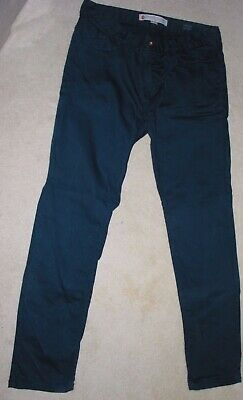 Mens River Island  Navy Stretch Cotton Chino Style Trousers W 34  Regular