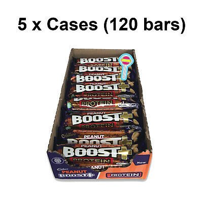 Boost Peanut Protein Bars | 120 x 49g Bar | 5 Full Cases | Best Before 14/11/19