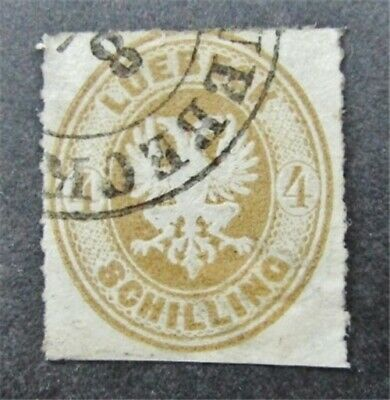 nystamps German States Lubeck Stamp # 12 Used $100