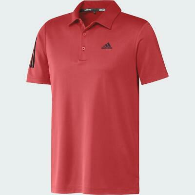 Adidas Golf 3-Stripes Básico Polo LC Logo (Real Coral - Grande)