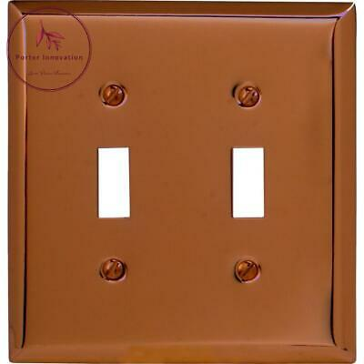 Century 2-Gang Wall Plate, Antique Copper