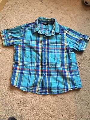 Age 4-5 Year George Boys Checked Short Sleeve Party Casual Shirt