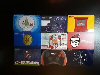Lot of 9 Game Stop Gift Card Collectibles No Value