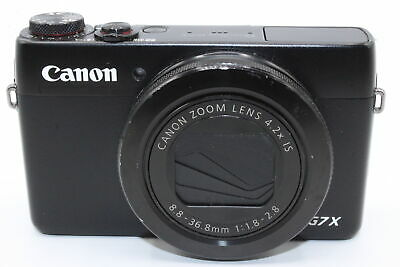 Canon Powershot G7 X 20MP Black Compact Camera + BATTERY CHARGER SD