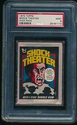 1975 Topps Shock Theater Unopened Wax Pack PSA 9 MINT SEE NOTE
