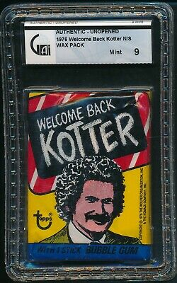 1976 Topps Welcome Back Kotter Non Sports N/S Unopened Wax Pack GAI 9 MINT