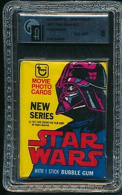1977 Topps Star Wars 2nd Series Non Sports N/S Unopened Wax Pack GAI 8 NM-MT