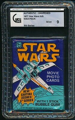 1977 Topps Star Wars 5th Series Non Sports N/S Unopened Wax Pack GAI 9 MINT