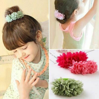 Girls Elastic Hair Bands Multi Layer Flower Hairs Ropes Tie Scrunchies Headbands