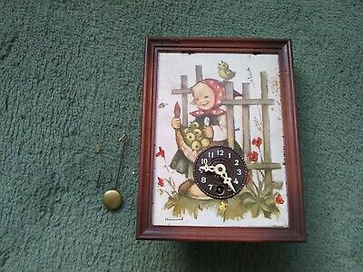Vintage J. Engstler Mini Cuckoo Clock  GERMANY Spares 16 x 12cm