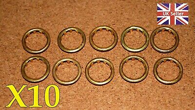 10 BRASS CLOCK FACE, WINDING HOLE  GROMMETS FOR 10mm HOLE. FREE POSTAGE. BARGAIN