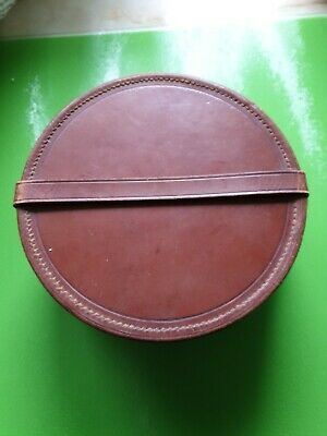 Leather Hat/Hair Piece Container in very good condition