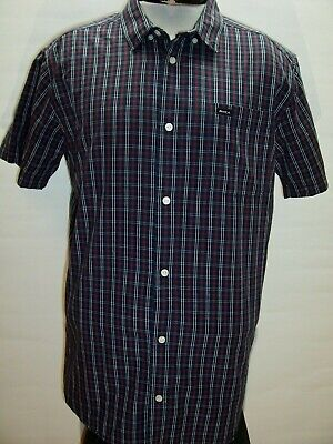 RVCA Mens XL X-Large plaid Button-up shirt Combine ship Discount