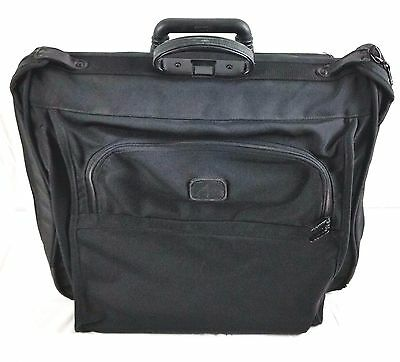 TUMI BLACK NYLON 2 Wheeled GARMENT BAG ROLLING TRAVEL LUGGAGE
