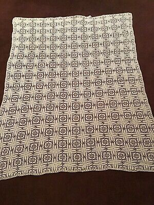 "Vintage Hand Crocheted Tablecloth Lacy Pattern 52"" X 64"""