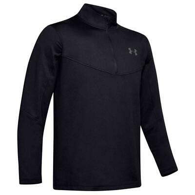 Under Armour Golf Tormenta Capa Media 1/2 Cremallera Camiseta (Negro - Grande)