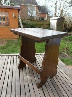 "Lovely Vintage Solid Oak Rustic ""Old Charm"" Style Small Stool/Table."