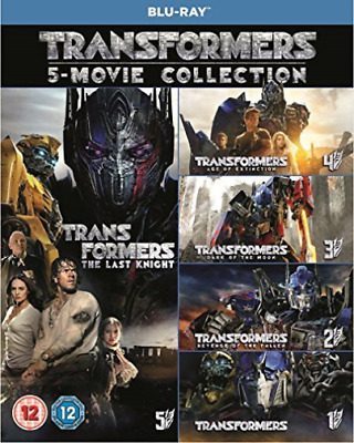 Transformers 5 Movie Collection Boxset DVD NEW