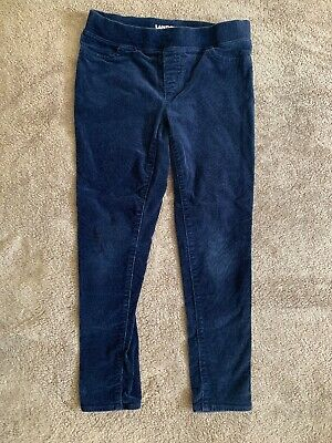 Lands' End Girls Blue Corduroy Stretchy Jeggings Sz. 7+