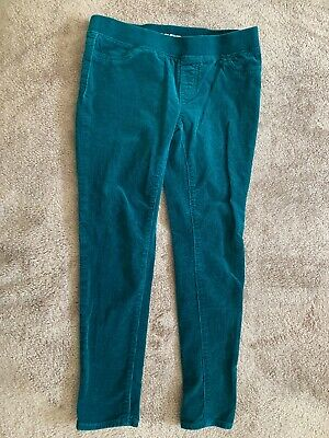 Lands' End Girls Green Corduroy Stretchy Jeggings Sz. 7+