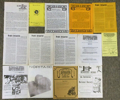 1970s PHOTOGRAPHY Newsletters ~ Collection of 23, Graphic Antiquarian + more