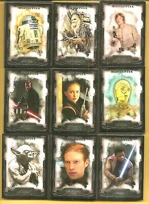 2016 Topps Star Wars Masterwork Set Builder Special Pick Any 7 Base Cards