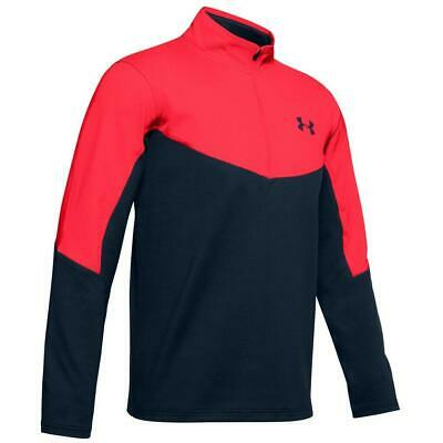 Under Armour Golf Tormenta Capa Media 1/2 Cremallera Camiseta (Rojo/Academia -