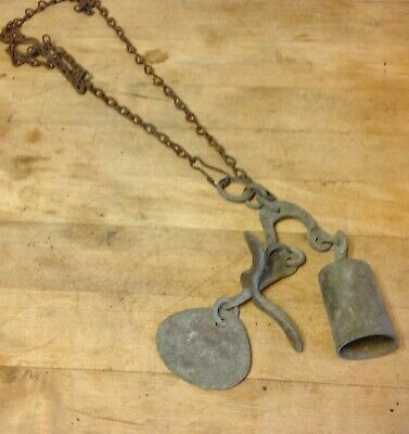 Antique Unique Unusual General Store Shop Keeper Hanging Door Bell Chimes