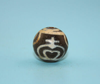 20*20 mm Antique Dzi Agate old   Bead from Tibet **Free shipping**