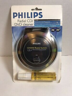 Free Ship Philips CD/DVD/game Disc Cleaning System 4 In 1 Radial Machanical