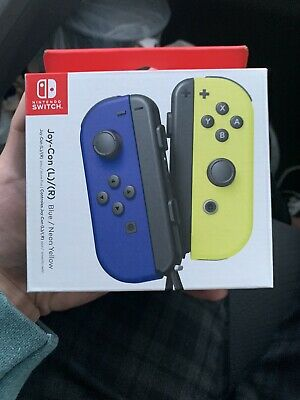 Nintendo Switch Joy-Con (L/R) Controllers - Blue/Neon Yellow *Free Shipping*