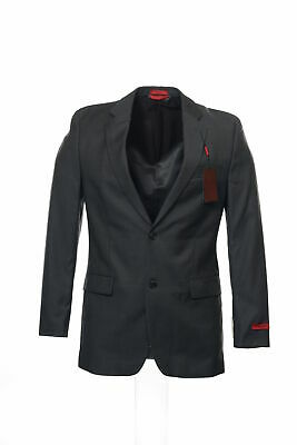 Alfani Red Gray Pinstripe 2 Button Sport Coat