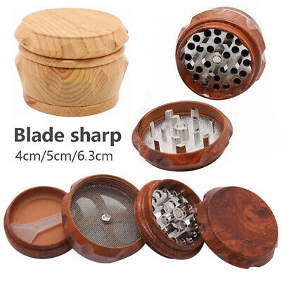 40/50/63mm Herb Grinder Spice Tobacco/Weed Smoke Wood Crusher Leaf Design