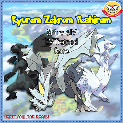 Pokemon Sword and Shield Shiny Kyurem Zekrom Reshiram 6IV | Pokemon Home | LEGIT