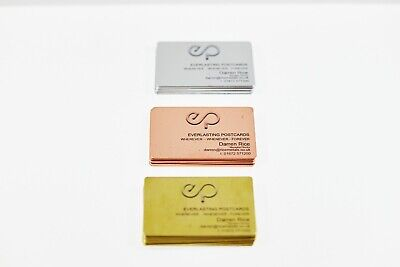 Metal Printed Business Cards PURE Copper / Aluminium / Stainless steel / Brass