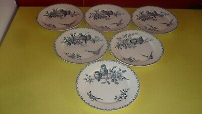 Ancien faience Sarreguemines Digoin Favori lot 6 assiettes plates n°15