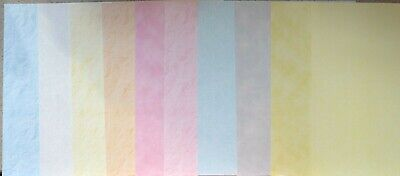 10 x A4 Sheets Assorted Hunkydory ADORABLE SCORABLE Cardstock ~ 350gsm Pastels