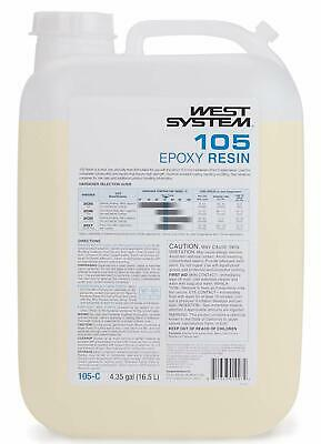 West System Epoxy Clear Low Viscosity Resin Part 1 105C 4.35 Gallons Boat Marine