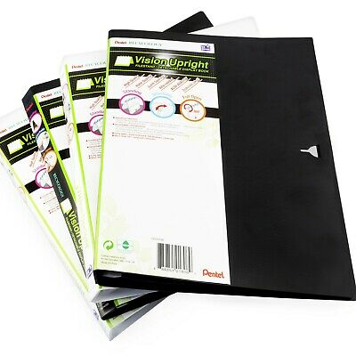 Pentel Recycology Vision Upright Filestand Display Book - Black + White - 4 Pack