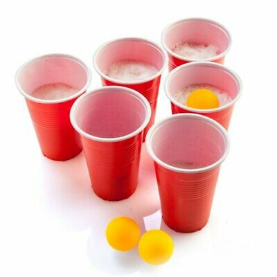 Classic MDI  Beer Pong Set 24 Red Cups & 24 Ping Pong Balls Party Gift