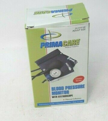 Primacare Classic Series Adult Blood Pressure Monitor Kit with Stethoscope