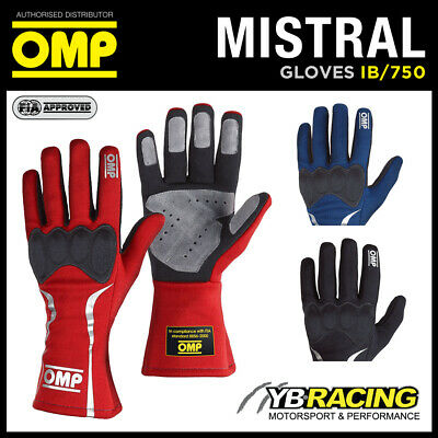 Ib/750 Omp Mistral Racing Rally Gloves Fireproof Fia Approved For Motorsport