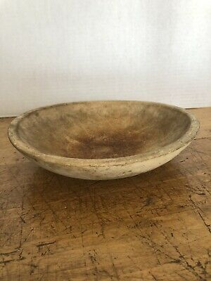 Vintage Munising Unfinished/Original Patina Wood Hand Carved Small Dough Bowl