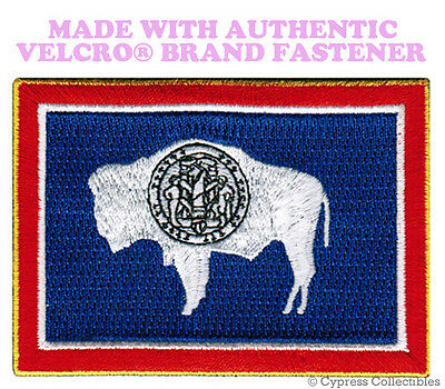 MAINE STATE FLAG PATCH EMBROIDERED SYMBOL APPLIQUE w// VELCRO® Brand Fastener