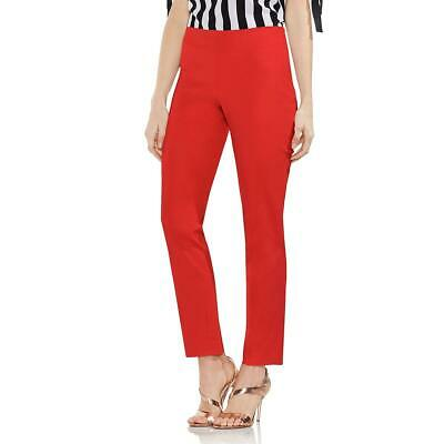 Vince Camuto Womens Red Ankle Office Straight Leg Pants Trousers 2 BHFO 9578