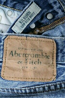 Abercrombie & Fitch Vintage Kilburn Low Rise Boot Mens 31 X 32 Jeans Destroyed