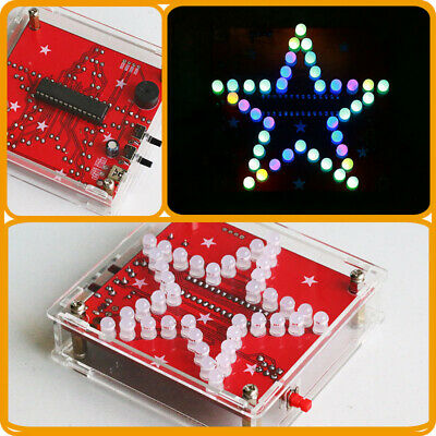 5.5V RGB LED Pentagram DIY Kit Mini USB Music Flashing Light Five-Pointed Star