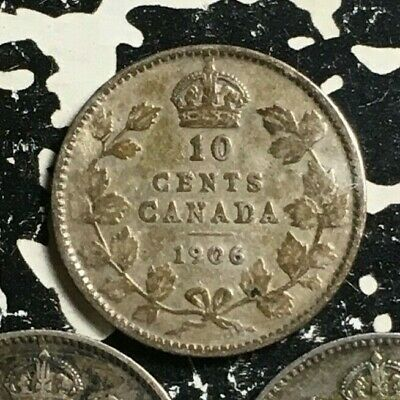 1906 Canada 10 Cent (3 Available) Circulated (1 Coin Only) Silver!