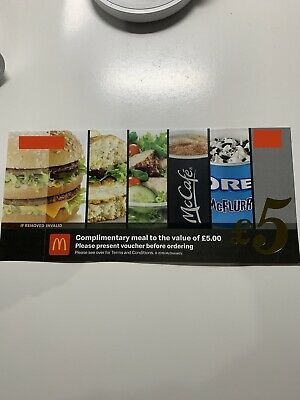Rare - McDonald's £5 Voucher No Expiry Date - Can Be Used At Any Store